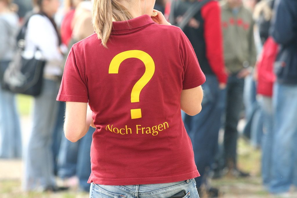 Noch Fragen?, Foto: Bettina Braun / Flickr.com / CC BY 2.0