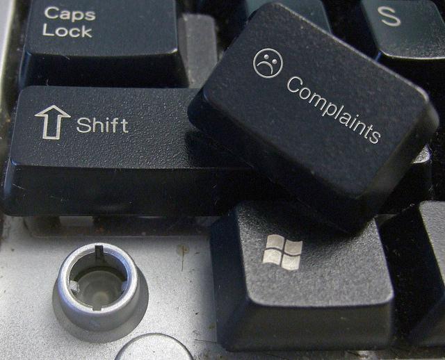 Beschwerde / Complaint (Symbolbild), Foto: Complaints button / Flickr.com / CC BY SA 2.0