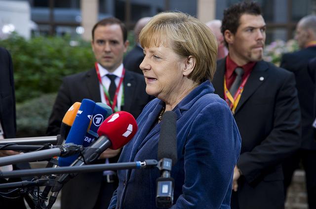 Bundeskanzlerin Angela Merkel spricht zu Medien, Foto: European Council / Flickr.com / CC BY NC ND 2.0